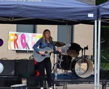 Student performing at Priorfest